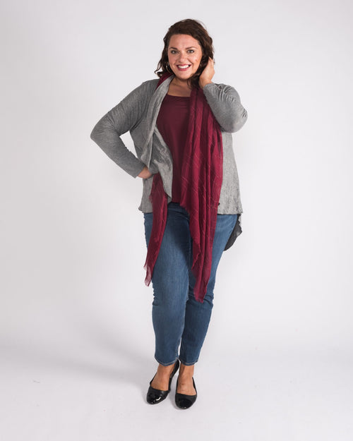 Kelly Crush Knit Jacket Grey - Size 14-26