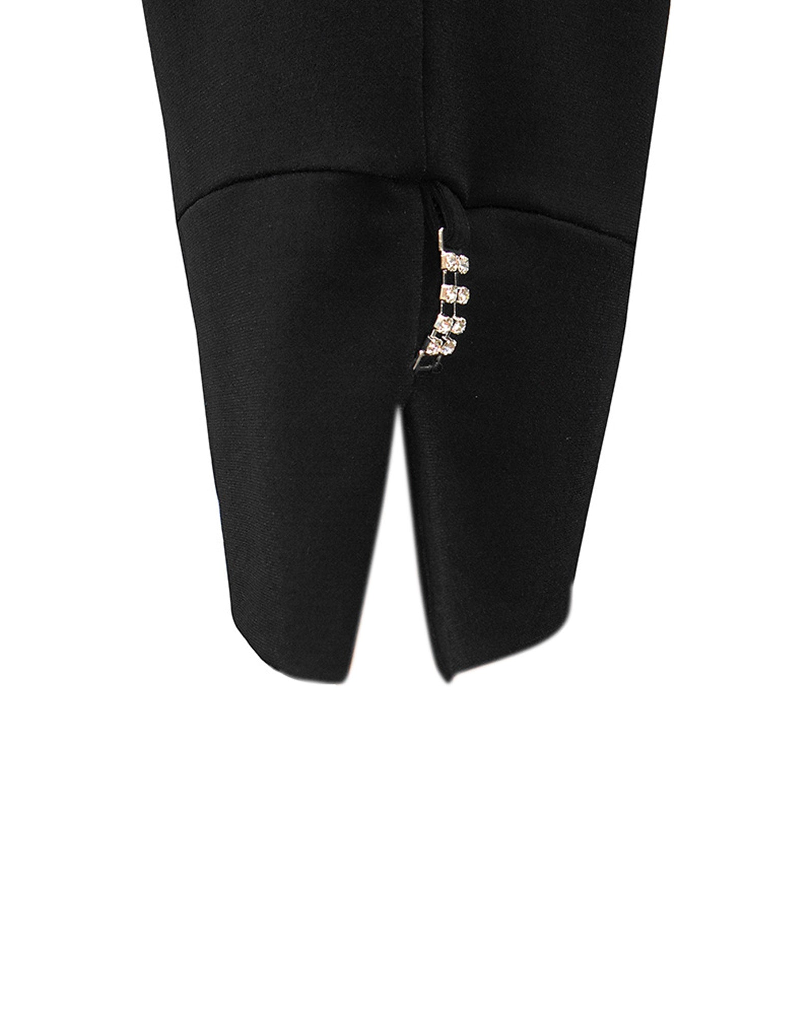 Bonny Soft knit Diamonte Pants- Black