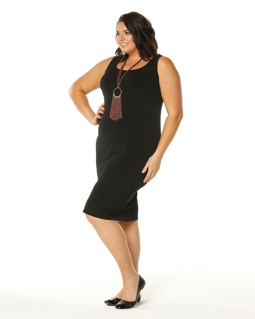 Meryl Singlet Dress -Black size 12-26 no size 16