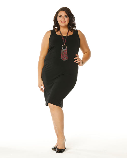 Meryl Singlet Dress -Black - Size 12-26 BACK IN STOCK