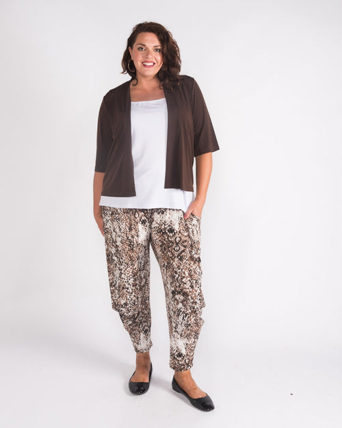 Betty Animal Cowl Print Pant