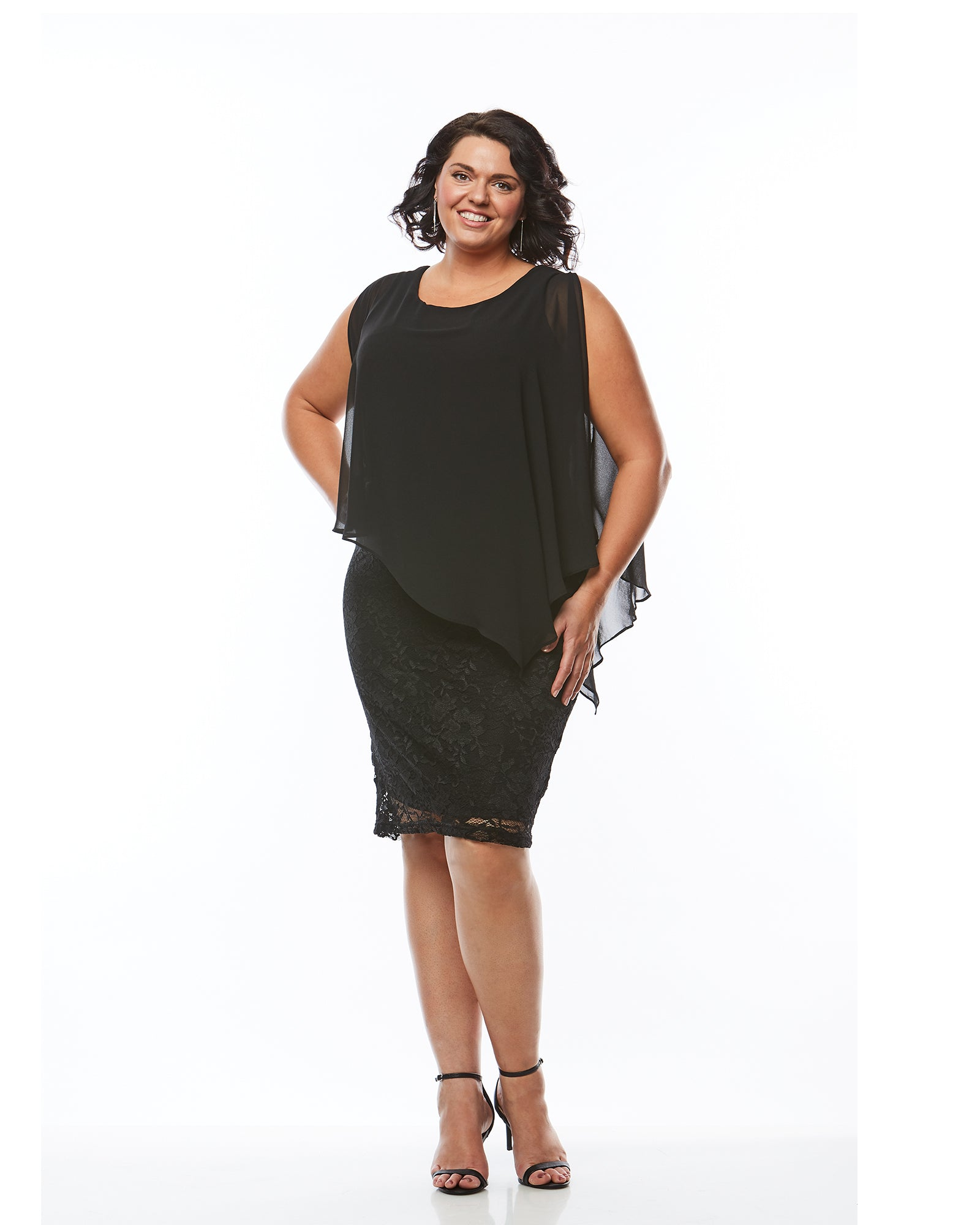 Plus size evening dress lace black, Room To Move