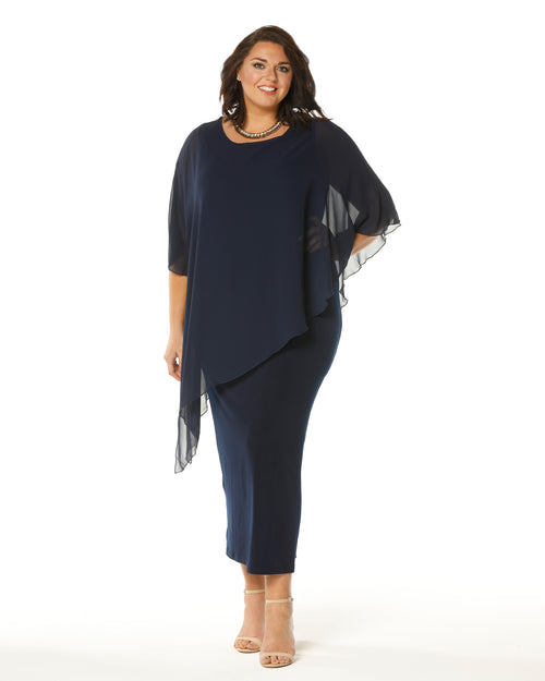 Room To Move, Plus size evening dress, Occasion dresses, Plus size formal dresses, RTM, Navy Evening Dress