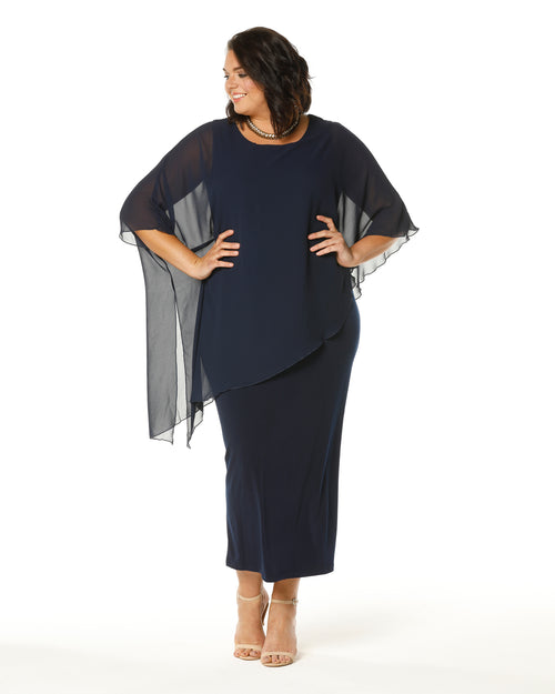 RTM Evening Dress, Navy Dress, Occasion Dresses, plus size Formal