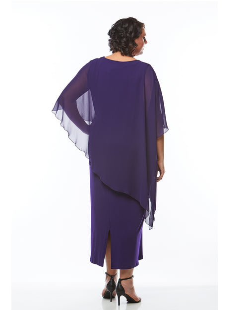 Plus size evening dress, Occasion dresses, Plus size formal dresses, RTM, Purple Evening Dress