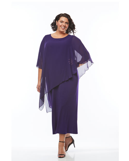 Plus size evening dress, purple long dress, Room To Move