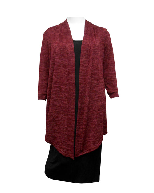 Cecile Long Knit Cardigan-Burgundy