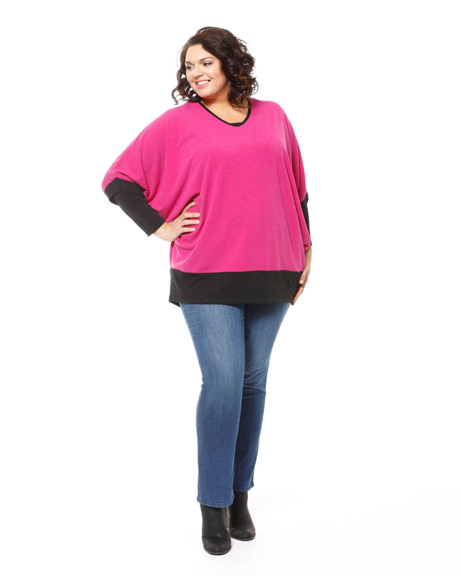 Margaret Batwing Knit-Pink Last Size 16