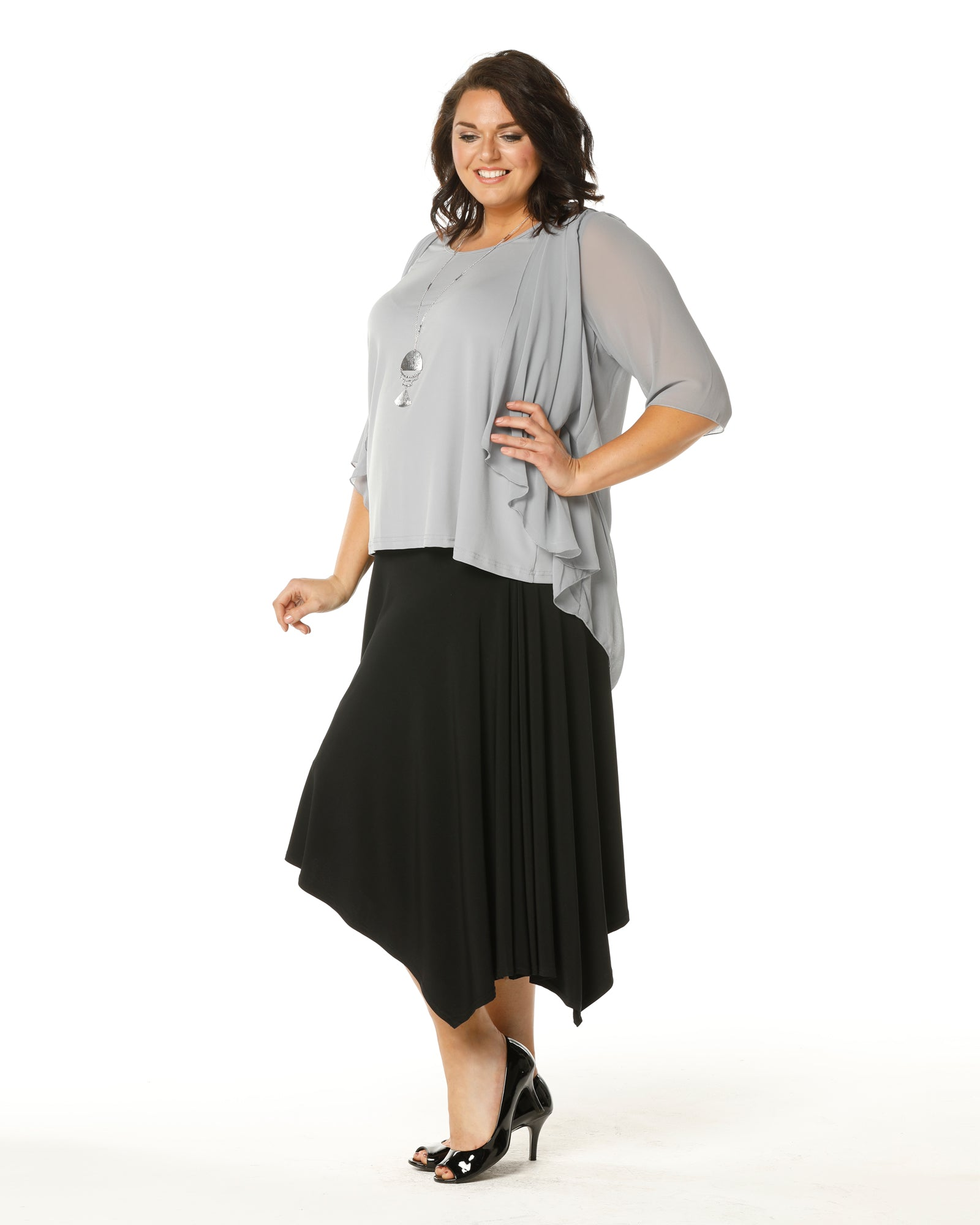 Linda 2 In 1 Tunic - Silver Grey LAST SIZE 26 ONLY