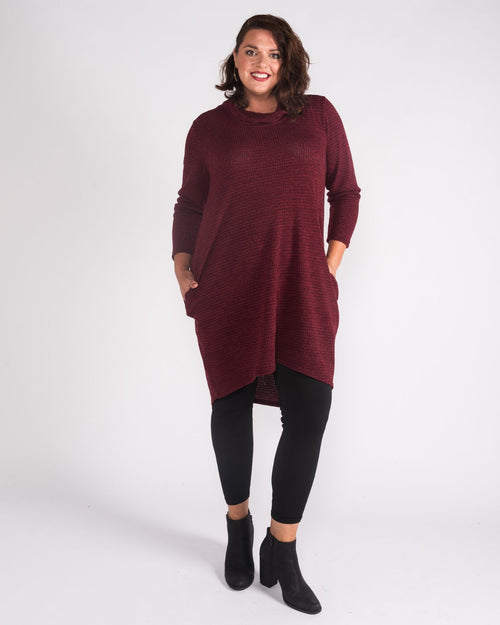 Georgie Tunic Dress  -Red - size 12 & 16 Left