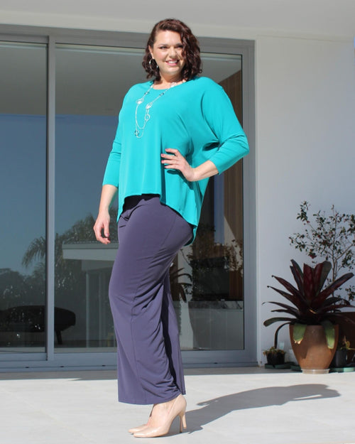 Relaxed Hi Lo Top - Teal