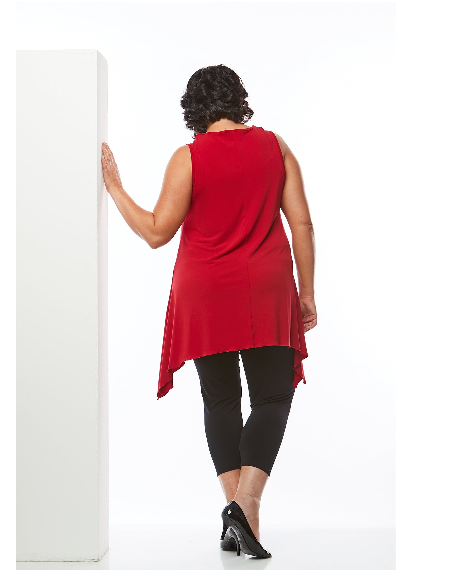 Plus size tunic top red, Room To Move Tunic