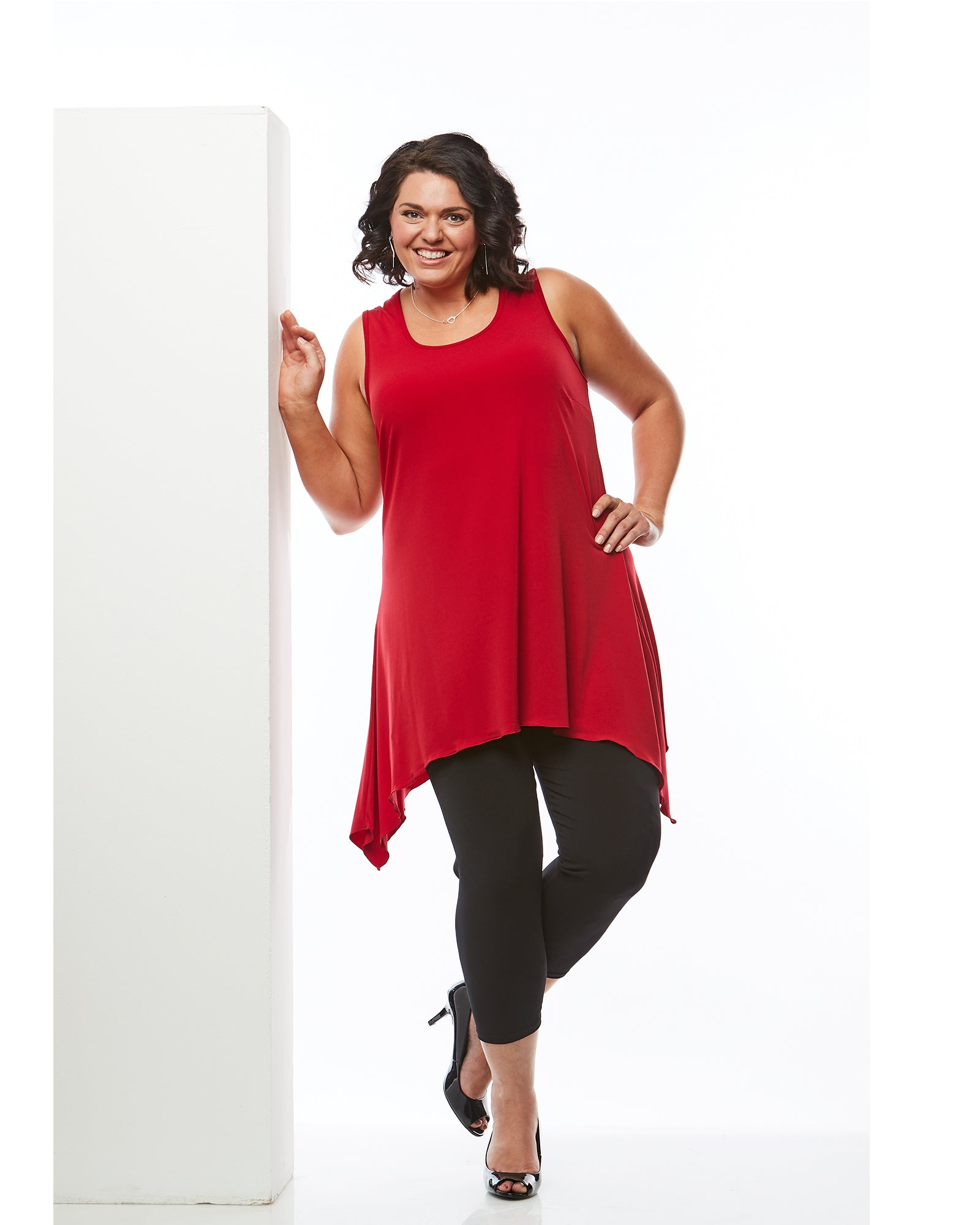 Plus size tunic top red, Room To Move