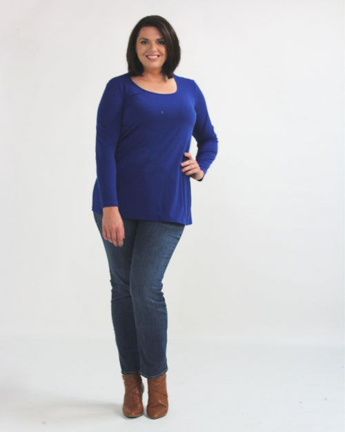 Long Sleeve Top - Cobalt