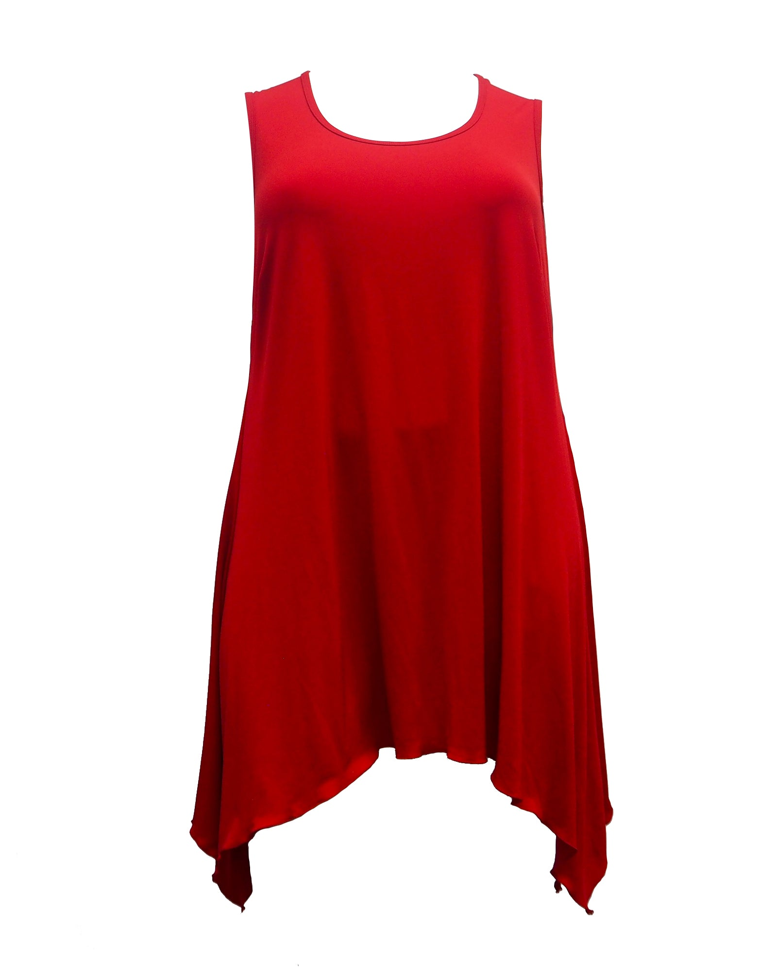 Plus size tunic top red