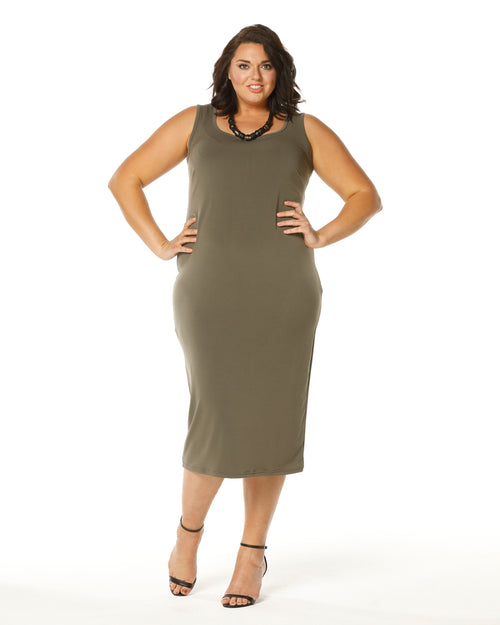 Roxanne Dress -Khaki