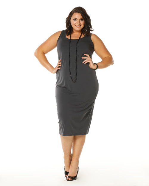 Roxanne Dress -Charcoal