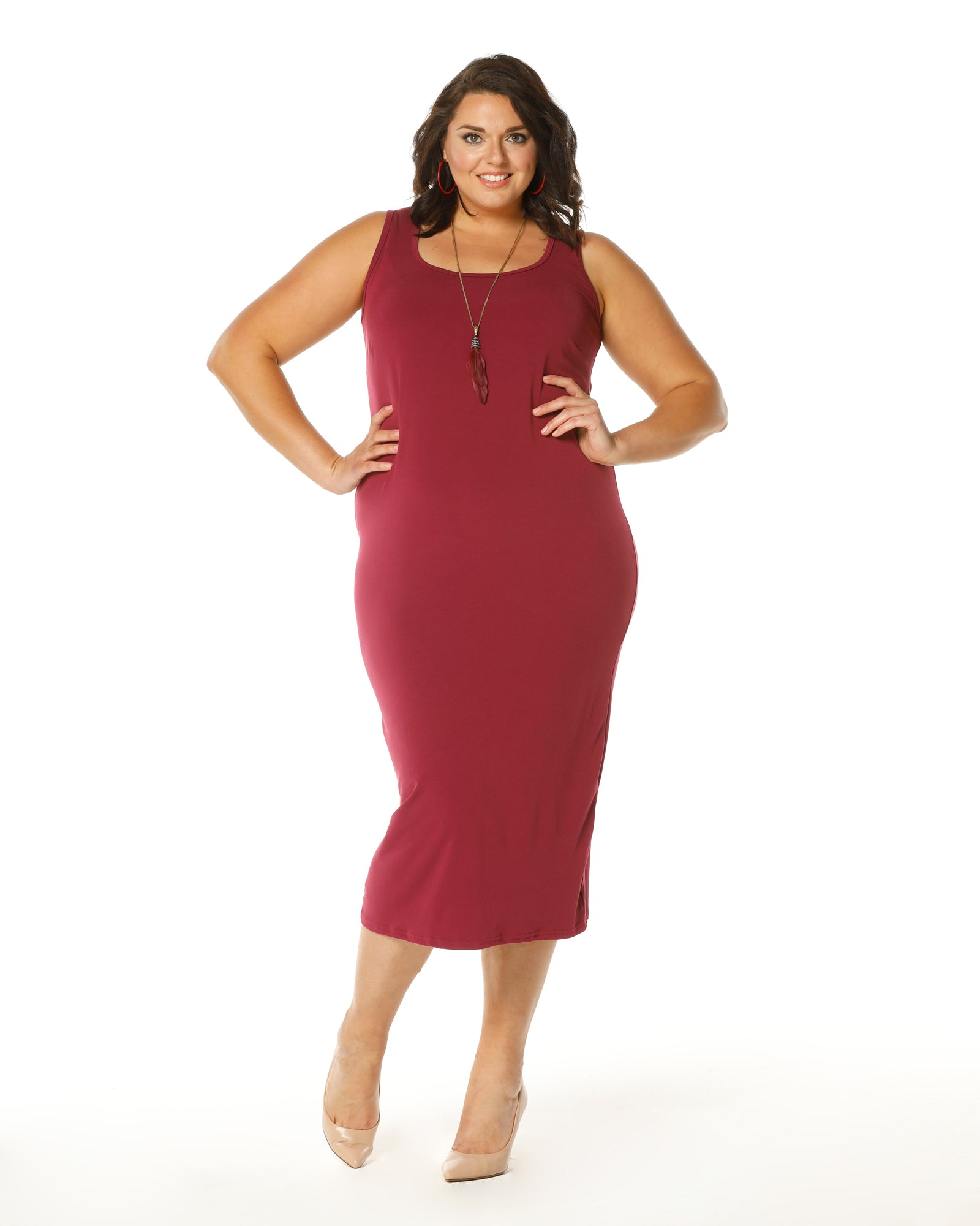 Roxanne Dress -Dark Fuschia- Size 12,16 & 18