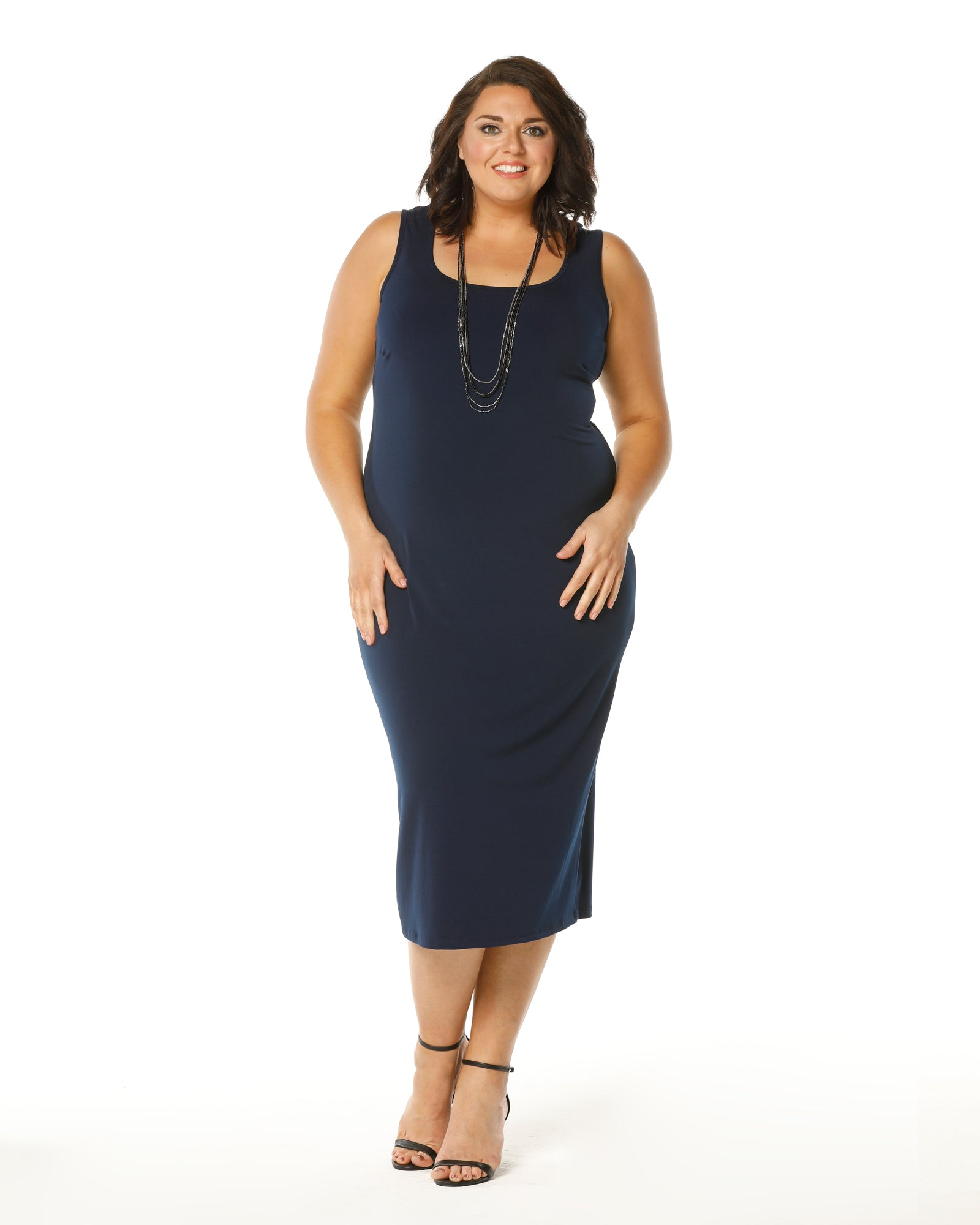 Roxanne Maxi Dress - Navy Size 12-26