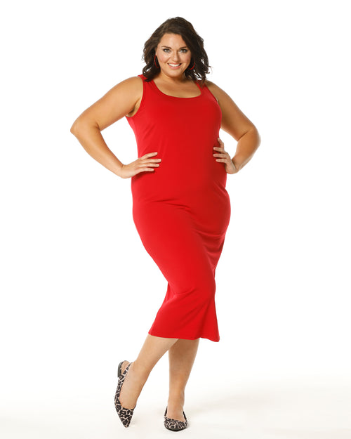 Roxanne Soft Maxi Dress - Red size 20,22,24