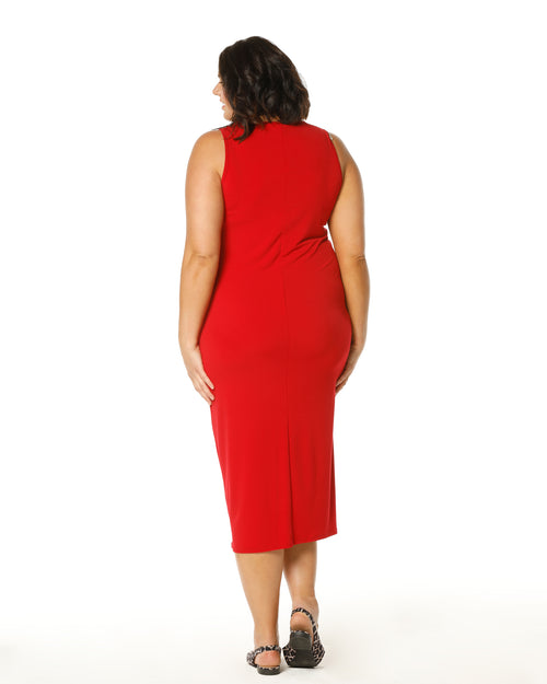Roxanne Soft Maxi Dress - Red - Sizes 12-26