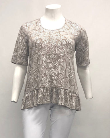Sarah Viscose Knit & Lace Top