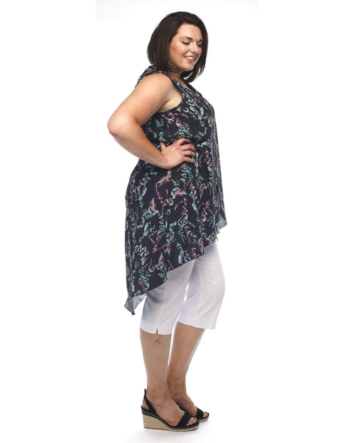 Alana Crepe Top - Floral size 12-20