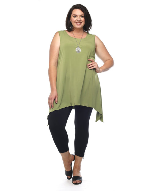 Soft Knit Tunic - Green Size 14 & 20