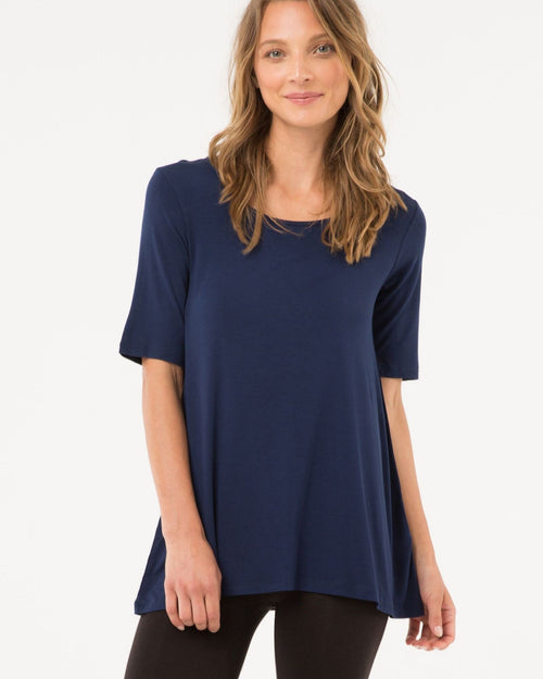 Carter Tunic - Navy - Up To 3XL - Size 20 -22