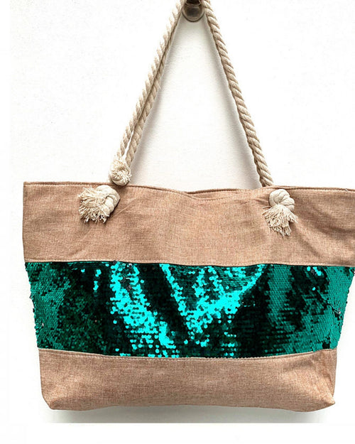 Green Sequin Detail Bag