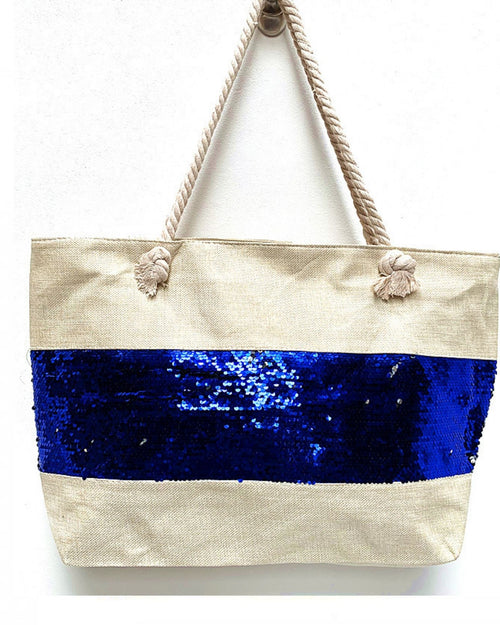 Blue Sequin Detail Bag
