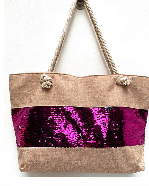 Pink Sequin Detail Bag
