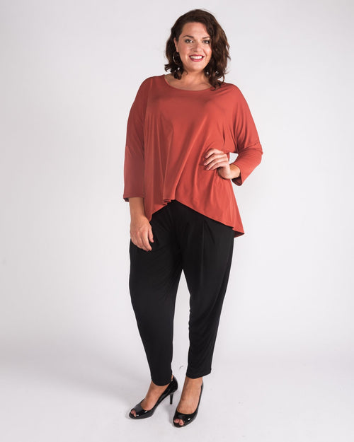 Relaxed Hi Lo Top - Rust
