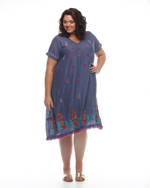 Bliss Dress- Indigo