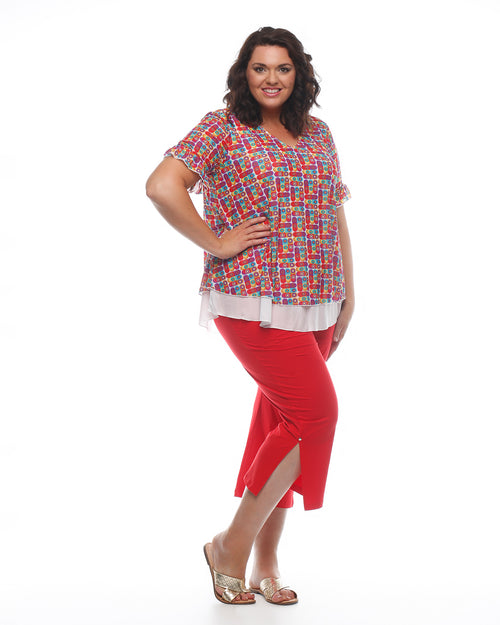 Must Have Crop Pant - Red- LAST SIZE 16 & 20