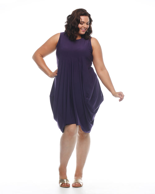 Must Have Bounce Dress- Eggplant