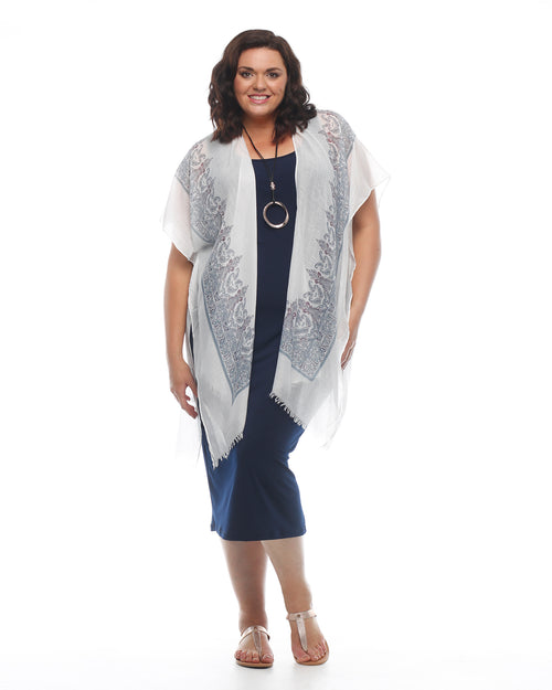 Paisley Cotton Beach Cover Up