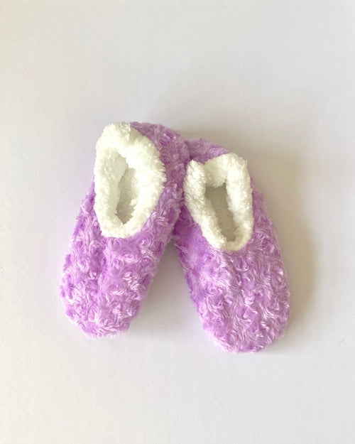 Cosy Fur Washable Slippers - Purple