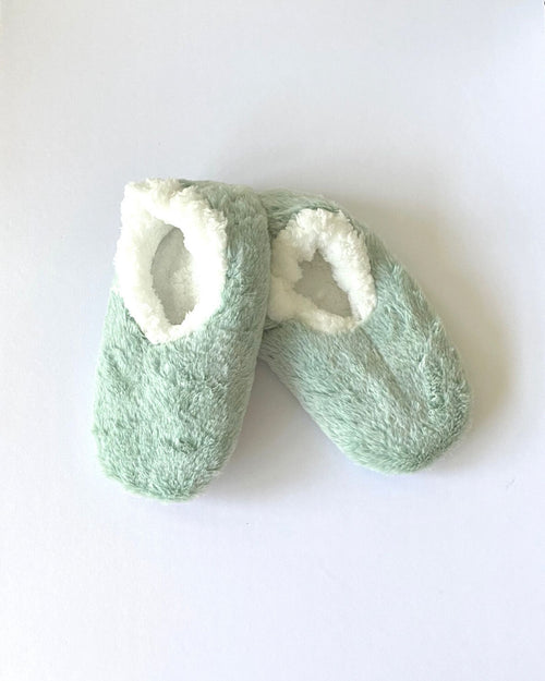 Cosy Fur Washable Slippers - Mint