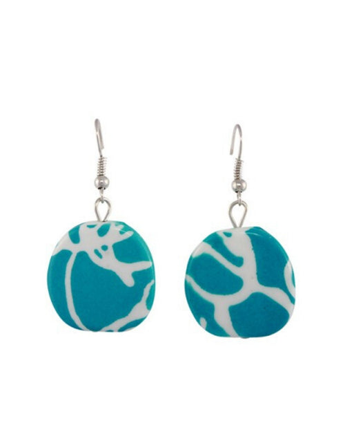 Jamaica Earrings - Blue/white