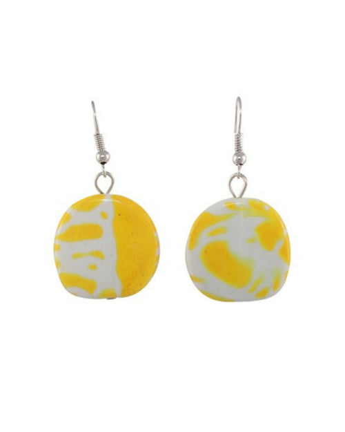 Jamaica Earrings - Yellow/white