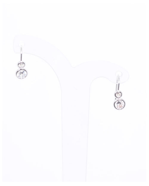 Mini Silver Crystal Hook Earrings