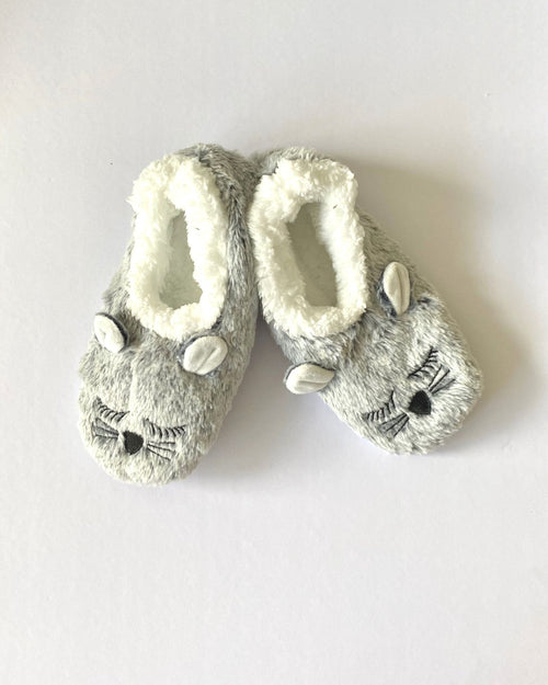 Cosy Fur Washable Slippers - Cat