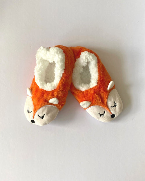 Cosy Fur Washable Slippers - Fox Size Small