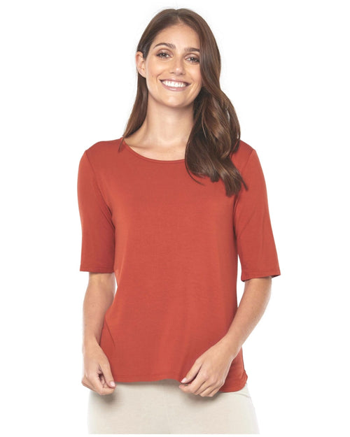 Sophie Top - Rust Up To 3XL - Size 20 -22
