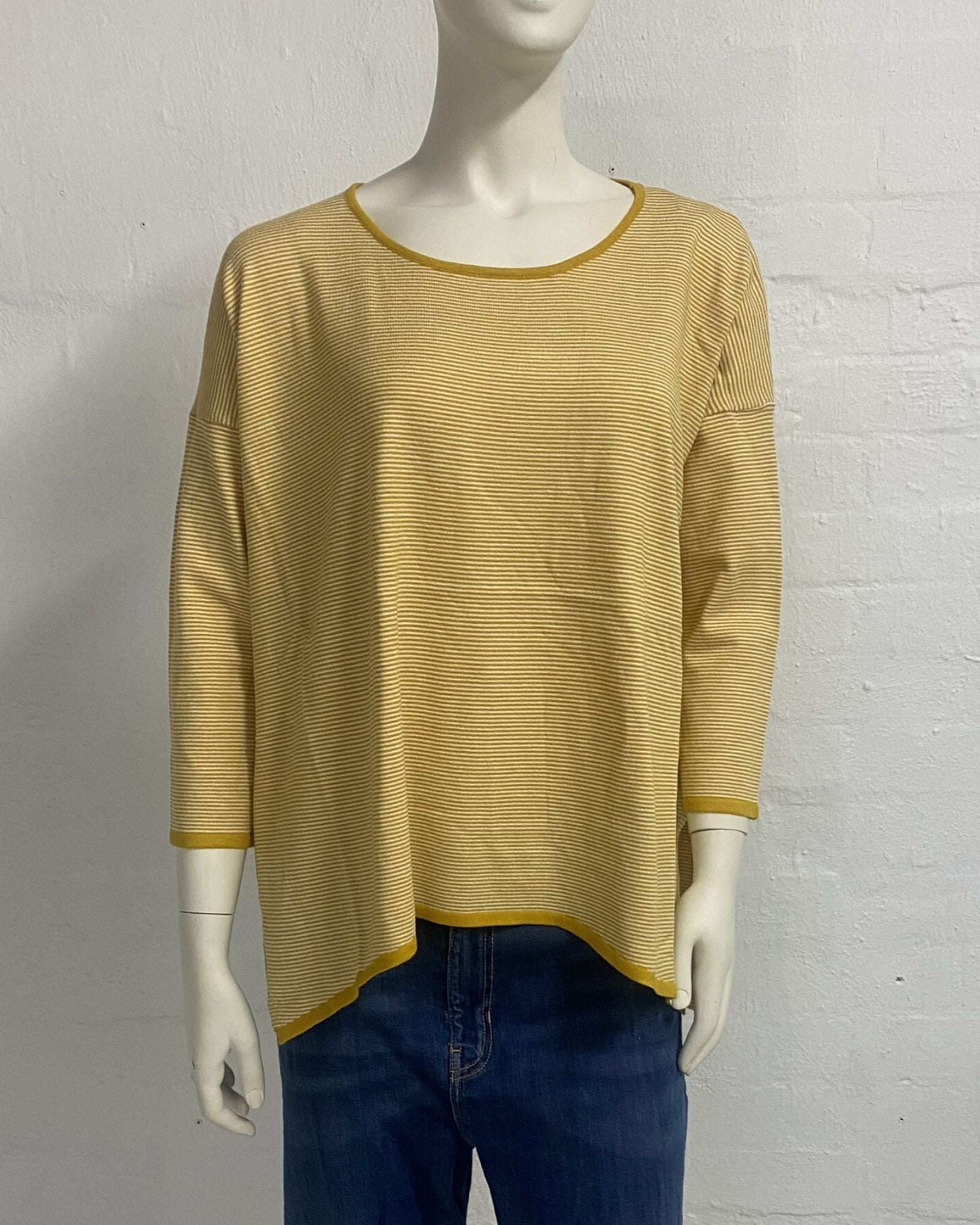Stripe Knit Top - Mustard Size 18/20 Only
