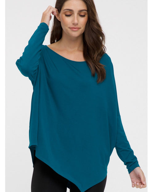 Relaxed Boat Neck Top - Teal  Size 10-24