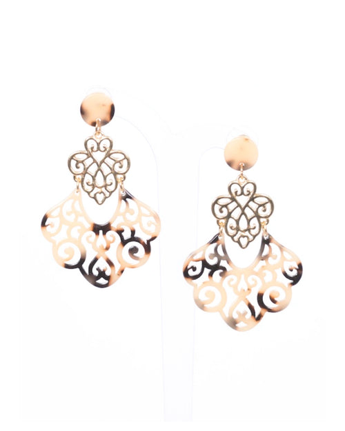 Light Tort Filigree Earrings