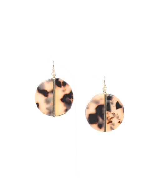 Light Tort Split Disk Earrings