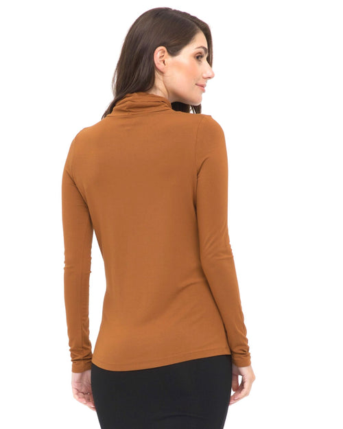 Bamboo Turtle Neck - Ginger - Size 10-18